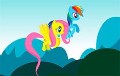 Гонка двух пони